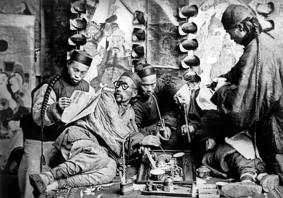 Chinese Opium Smokers In 1874