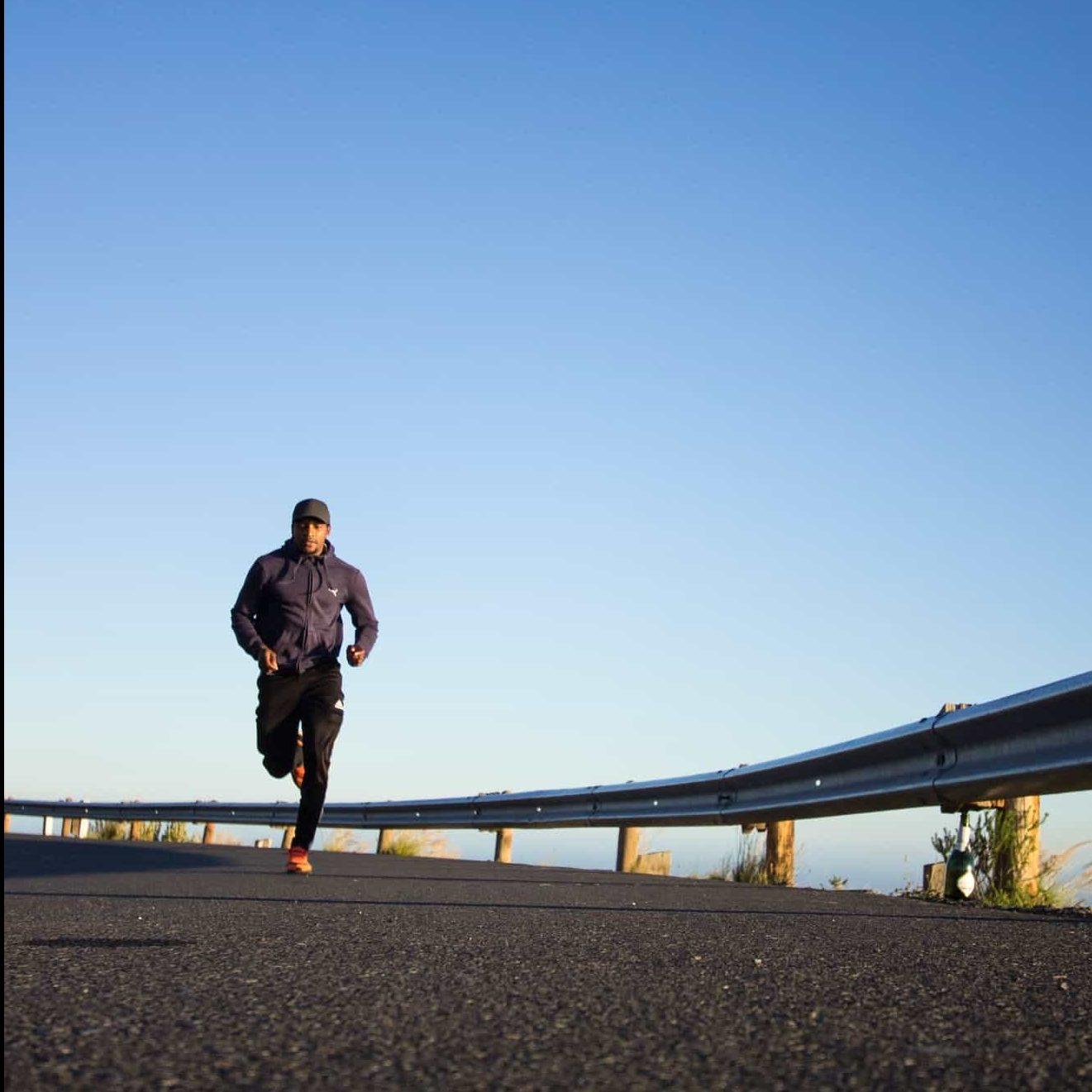 Runner on a morning jog